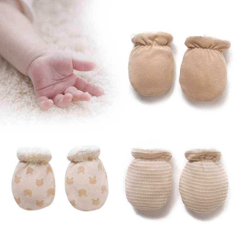 Winter Gloves  -thicken Warm Fleece Cute / Anti-grab Mittens Hand For Newborn