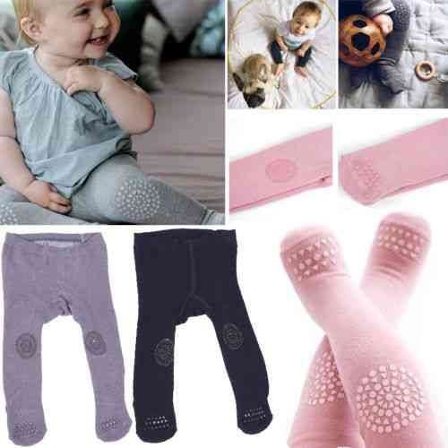 Cotton Warm And Soft Elastic Tights With Knee Protectors