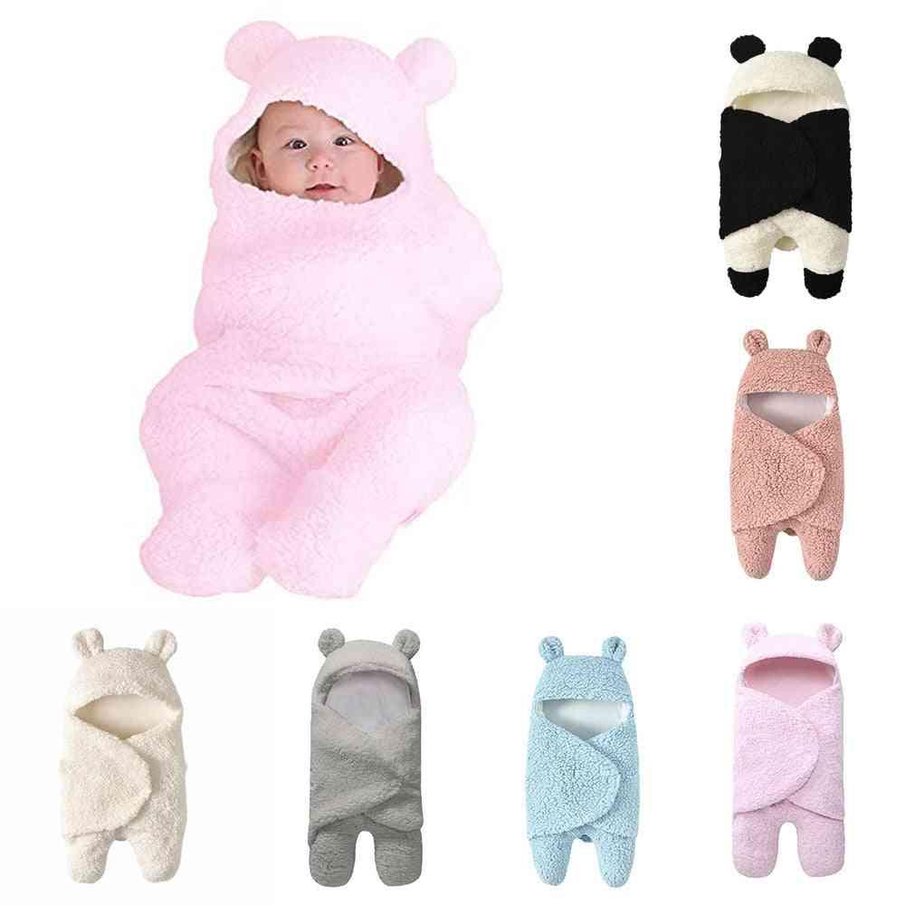 Baby Blanket - Newborn Cute Panda Cotton Receiving Sleeping Boy / Girl Wrap Swaddle