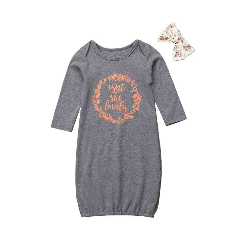 Infant Baby Cotton Clothing Sets - One Piece Newborn Wrap Blanket Sleepwear With Headband