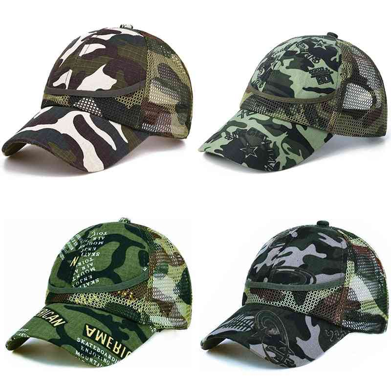 Outdoor Camouflage Baby Boy Mesh Baseball Cap - Summer / Autumn Net Casual Hats