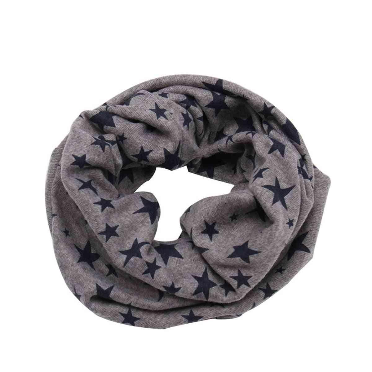 Infant / Winter Warm Neckerchief Stars Print Scarves