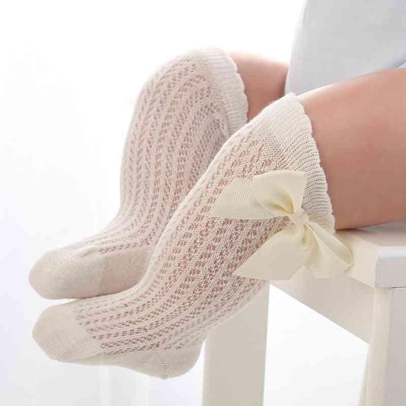Baby Infant Girl Non-slip Knee High Lace Princess Socks - Long Tube Booties