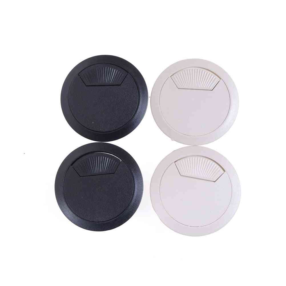 2pcs/set Of Durable Round Shaped-cable Hole Cover