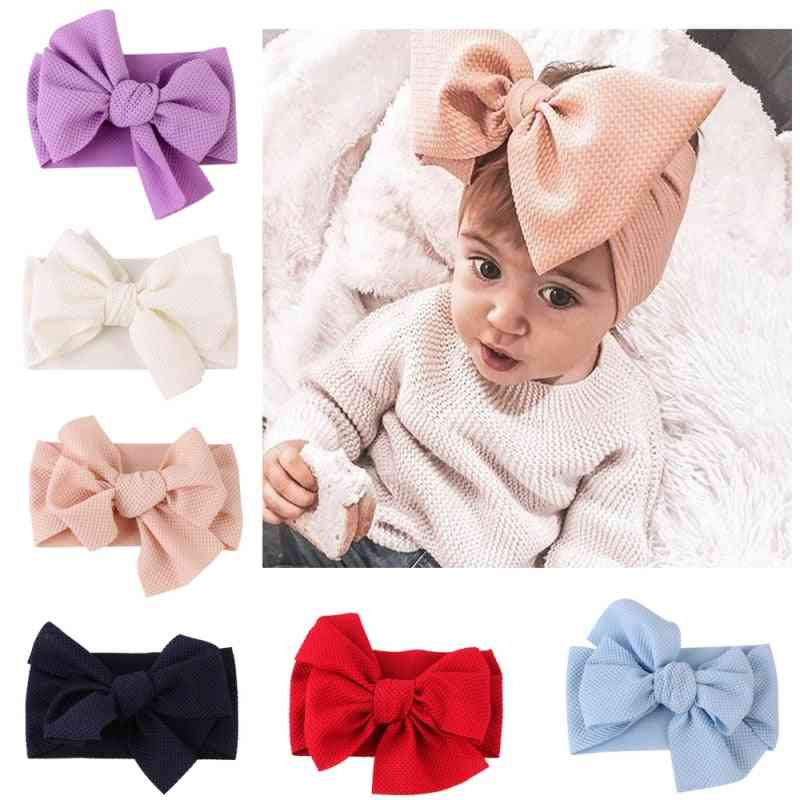Elastic Bow Knot Design, Headband For Baby Girl- Hair Accessories