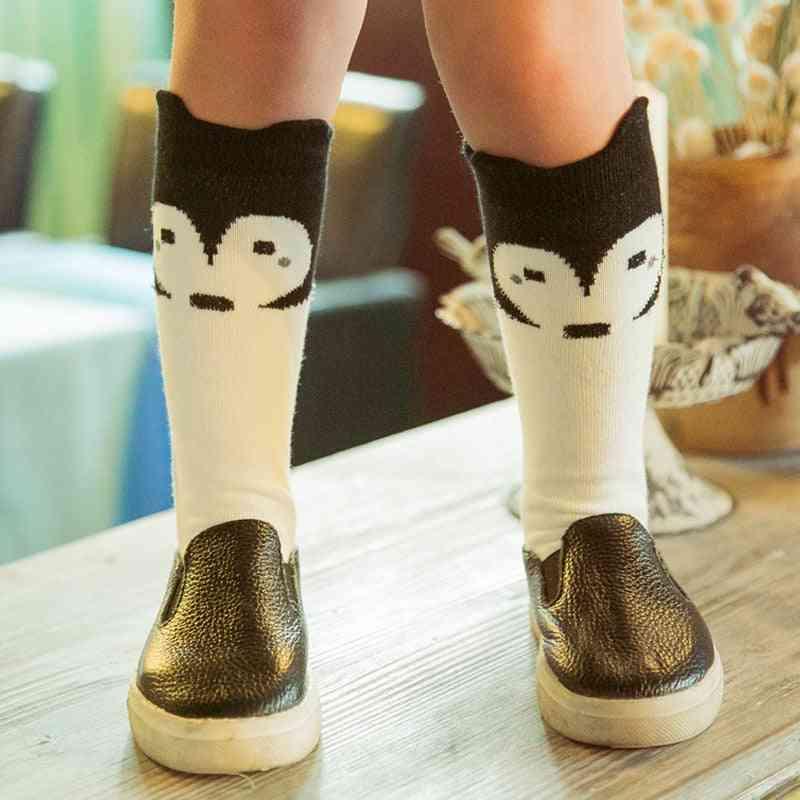 Cute Cartoon Printed, High Knee Socks For Kids