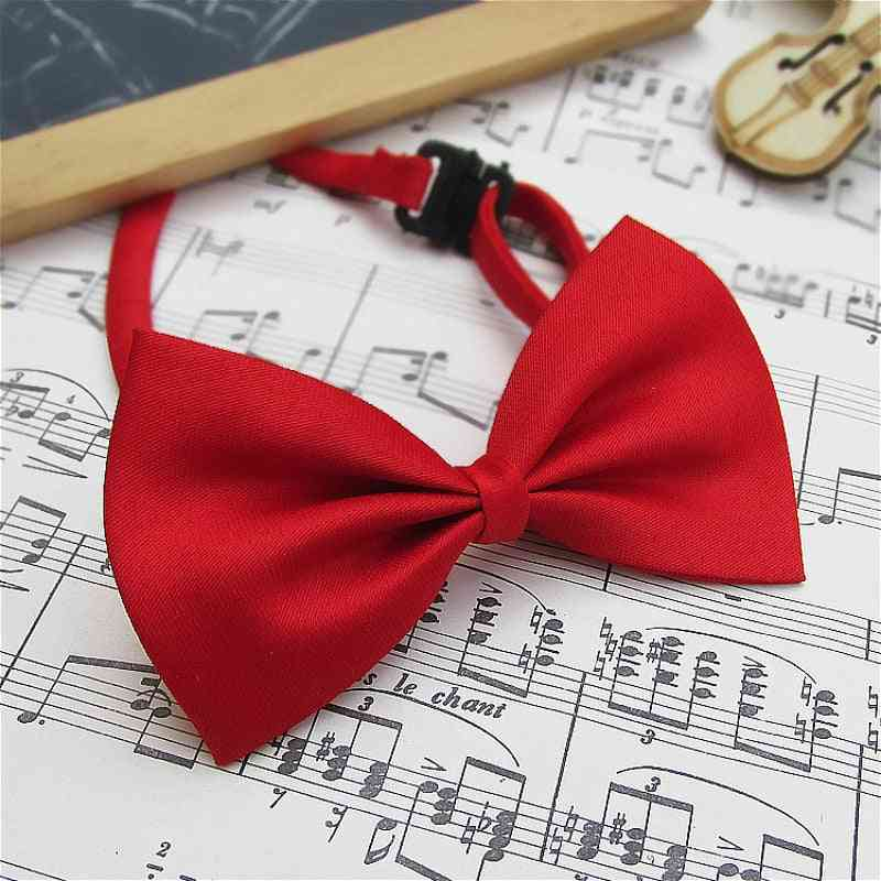 Solid Color Bow Tie For And