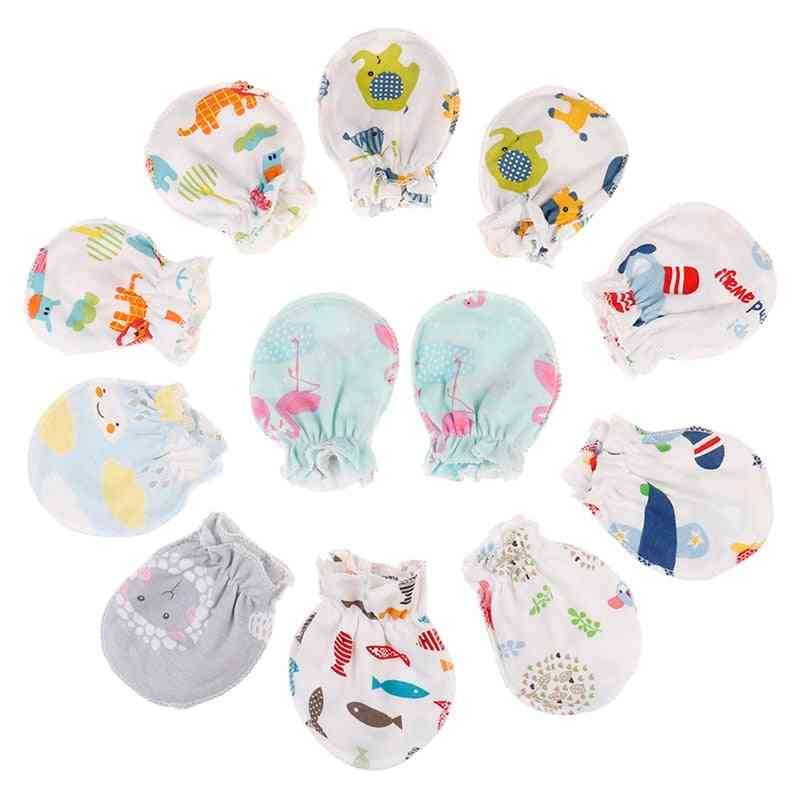 Anti Scratching, Cotton Mittens For Newborn-face Protection Gloves