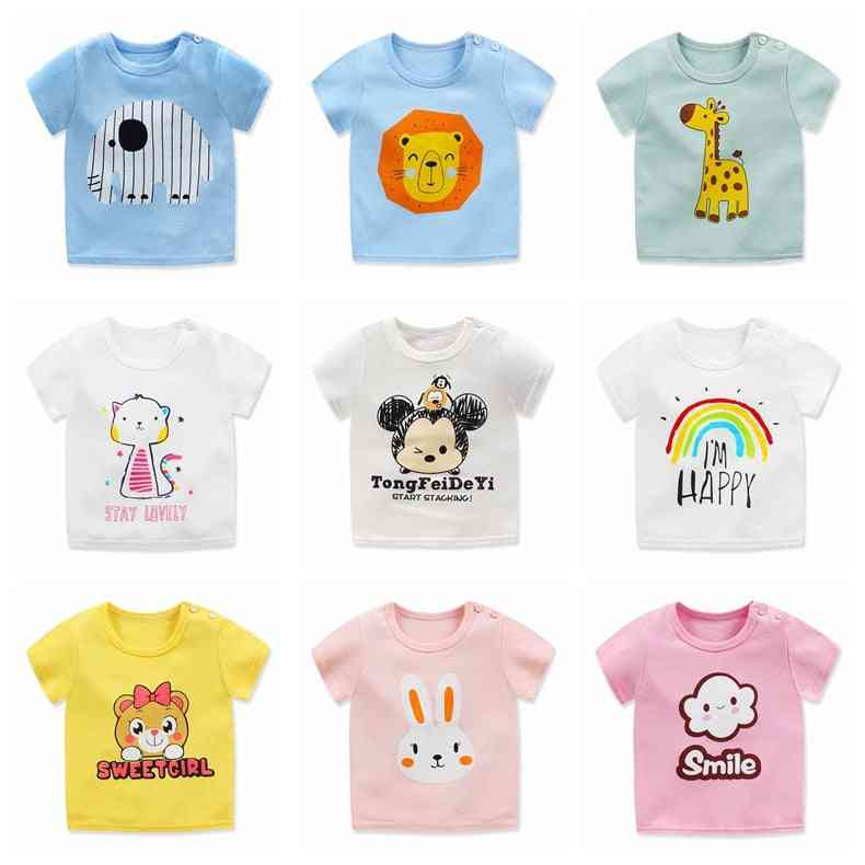 O Neck, Printed Kids T Shirt With Short Sleeves