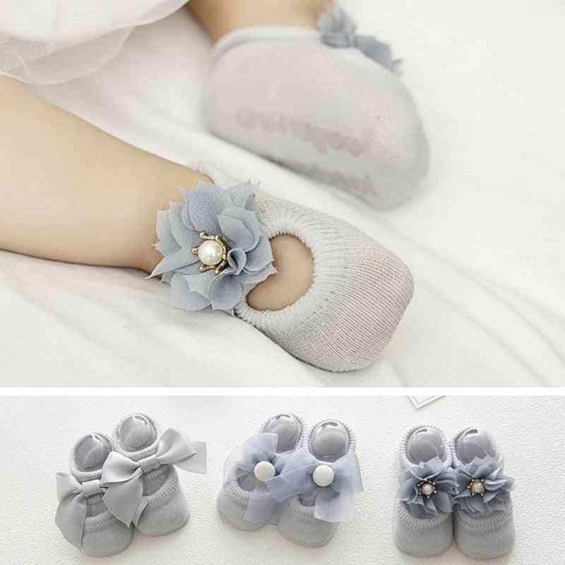 Lace Flower Design, Newborn Baby Socks
