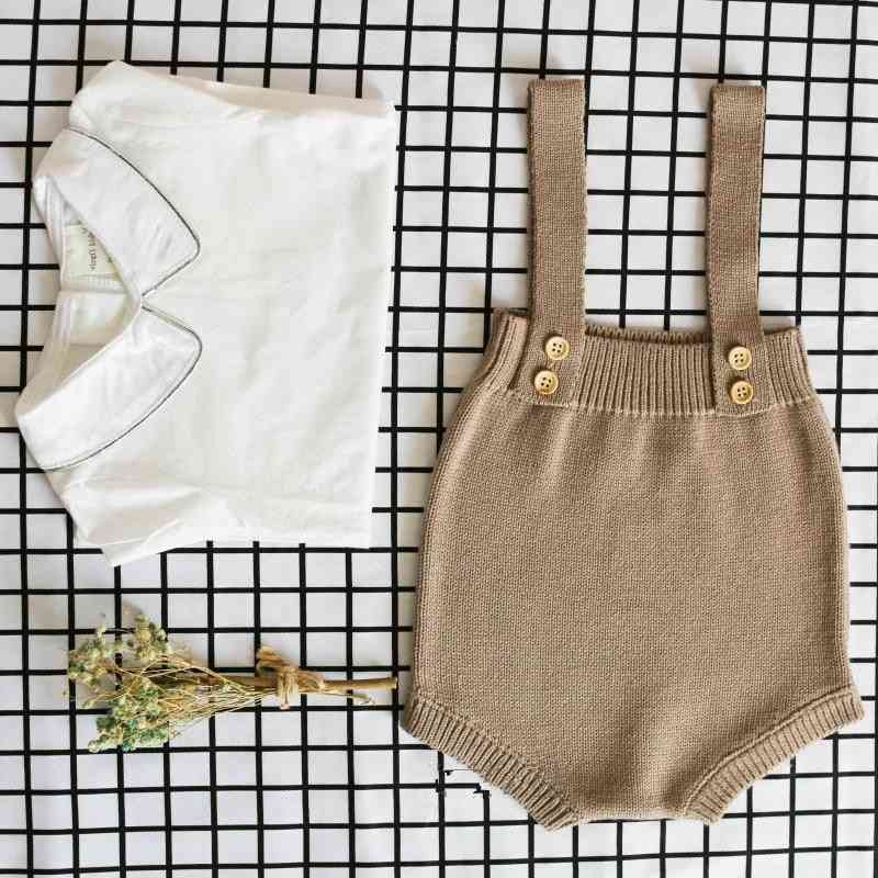 Cute Sleeveless, Knitted Romper- Jumpsuit For Babies