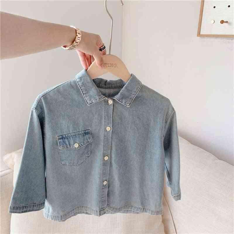 Long Sleeved Denim Shirt