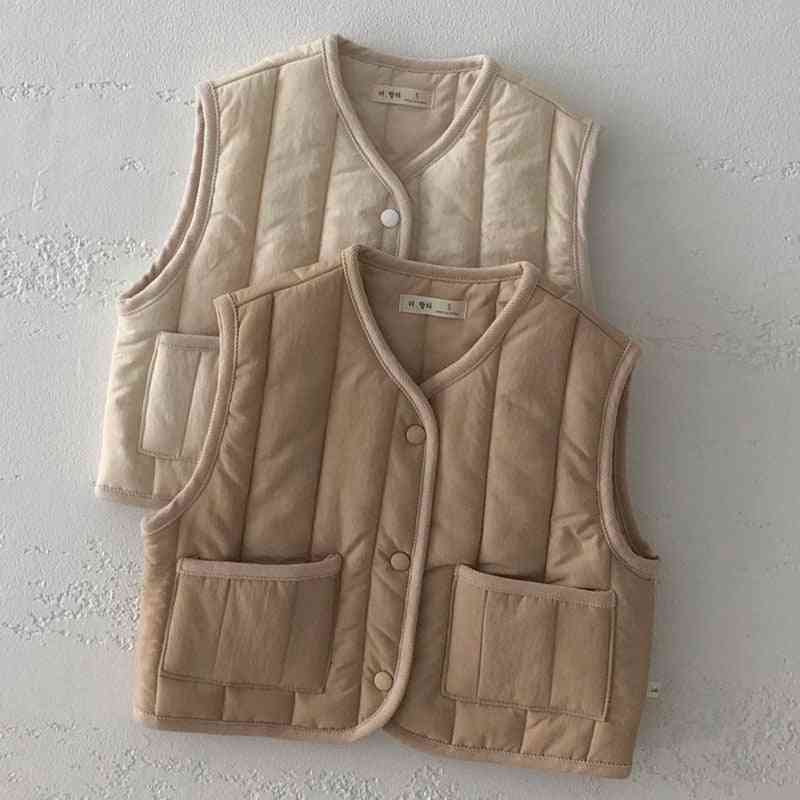 Cotton Vest Autumn And Winter - Waistcoats, Sleeveless Tops For