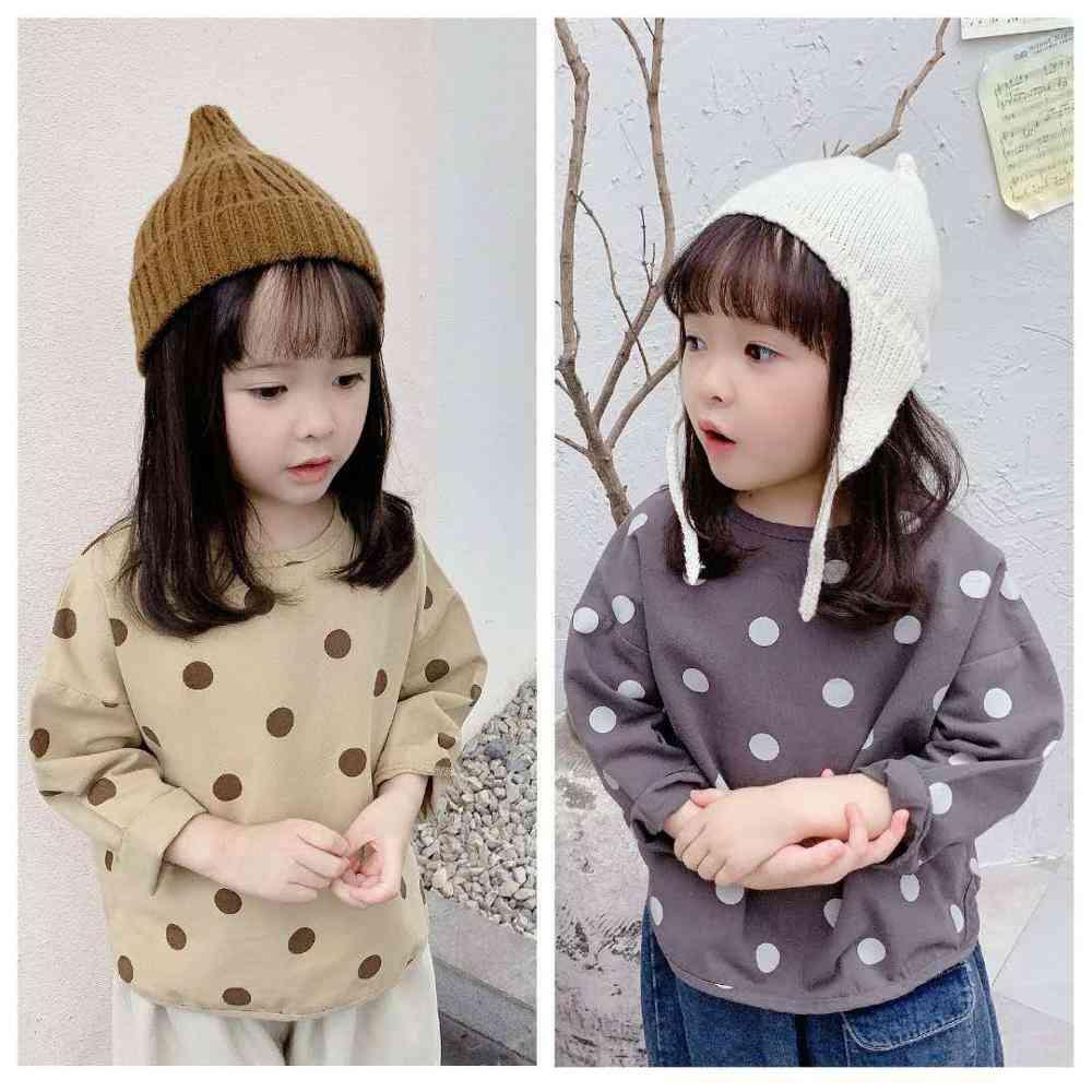 Children's Autumn Polka Dot Long Sleeved Shirt
