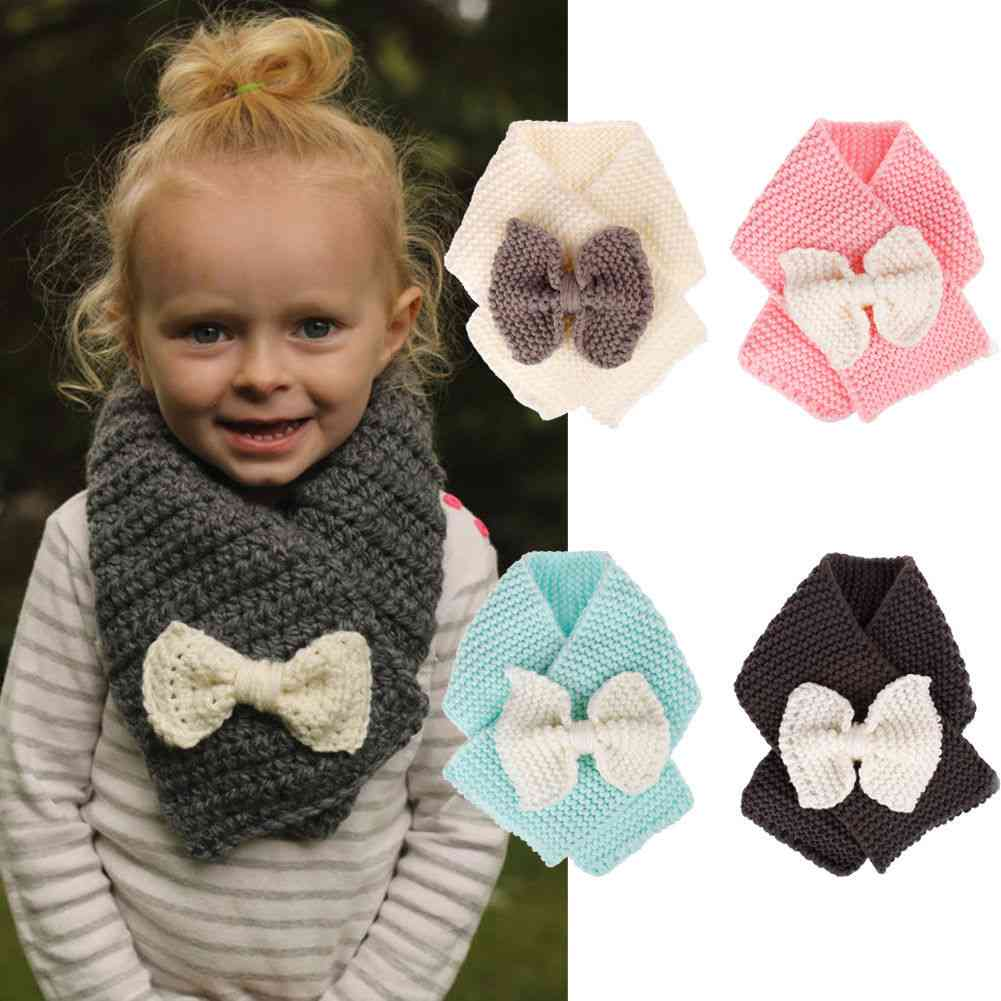 Princess With Bow - Fashionable Winter Knitting Wool Scarf For