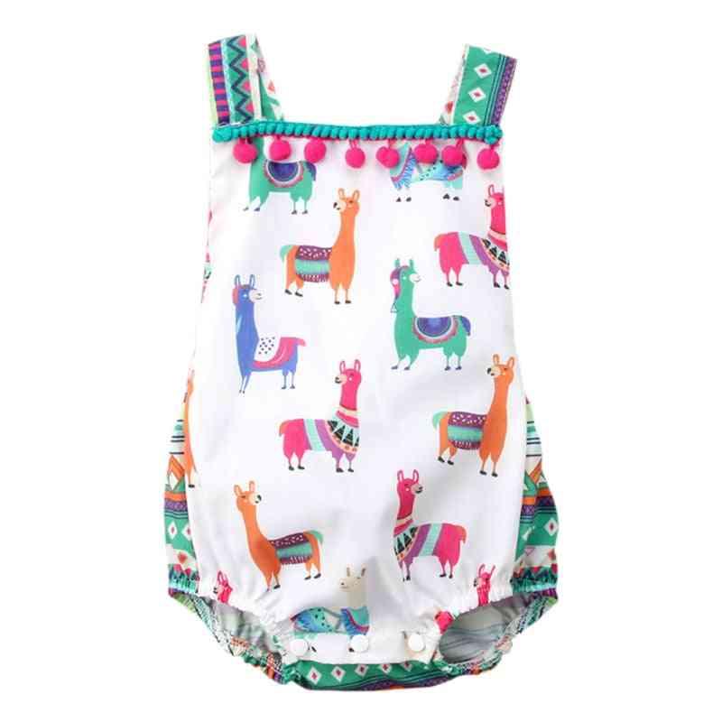 Sleeveless And Backless Summer Bodysuit For Newborn