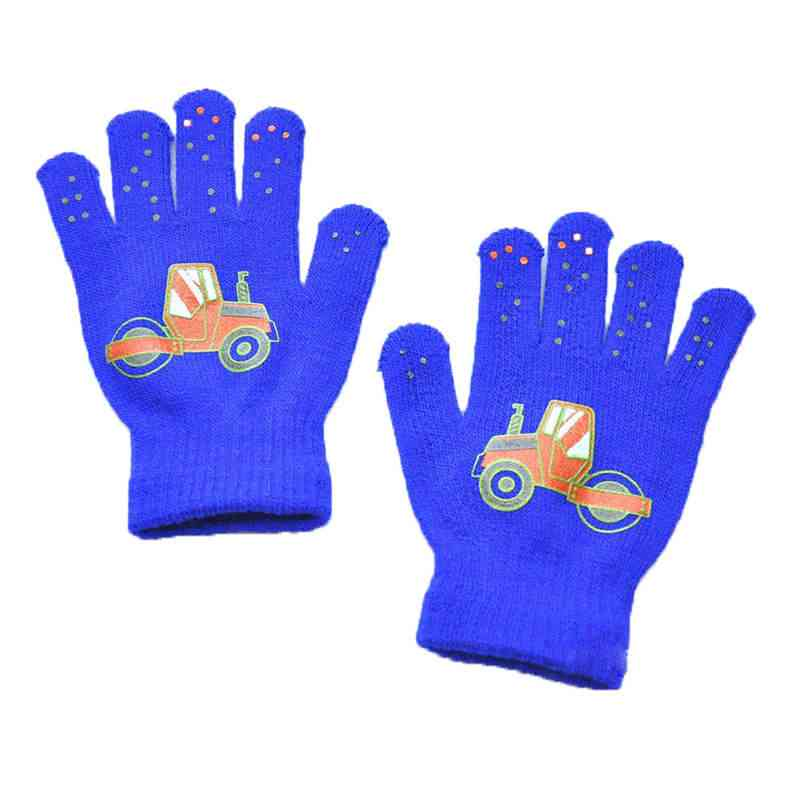 Cute Printing Five-finger Warm Gloves, Outdoor Sports Gloves For Kids