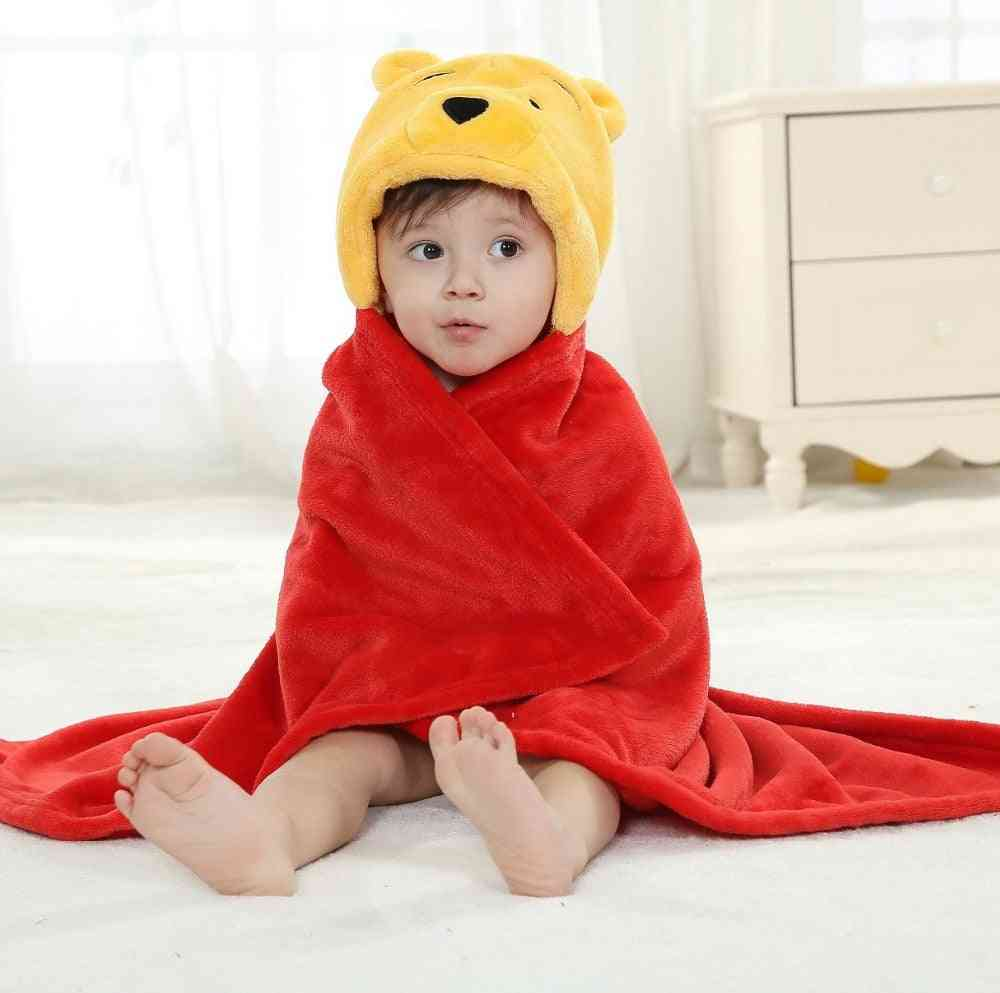 Winnie Bear Animal Cosplay Hooded, Baby Bath Towel