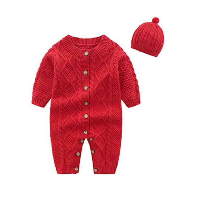 Newborn Baby Girl / Boy Jumpsuit & Hat, Warm Clothes