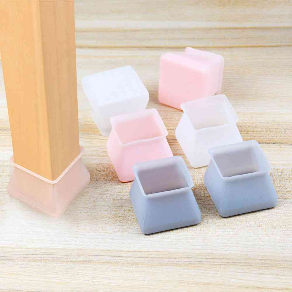 Table Chair Leg Silicone Cap, Pad Furniture Table Feet -cover Floor Protector