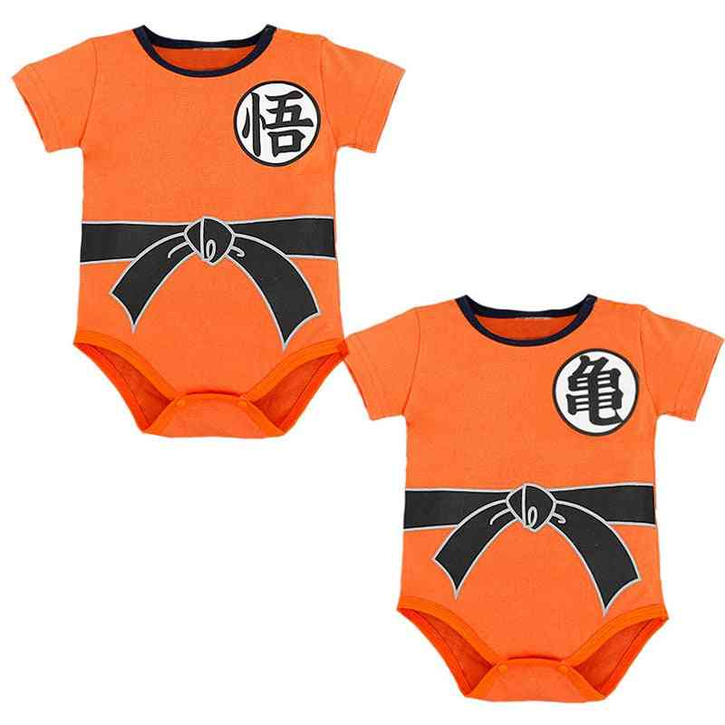Dragon Ball Z Goku Printed, Short Sleeve Bodysuit For Babies