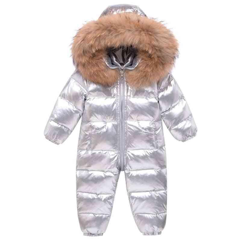 Baby Snowsuit Real Fur, Waterproof, Jumpsuit