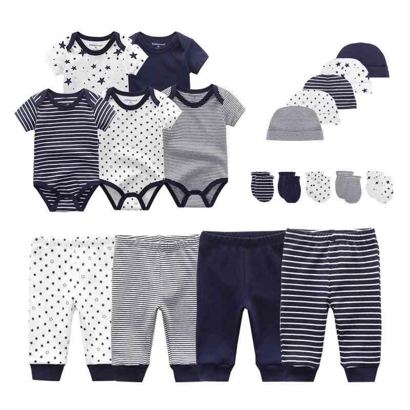 Newborn Baby (bodysuits+pants+hats+gloves) Set