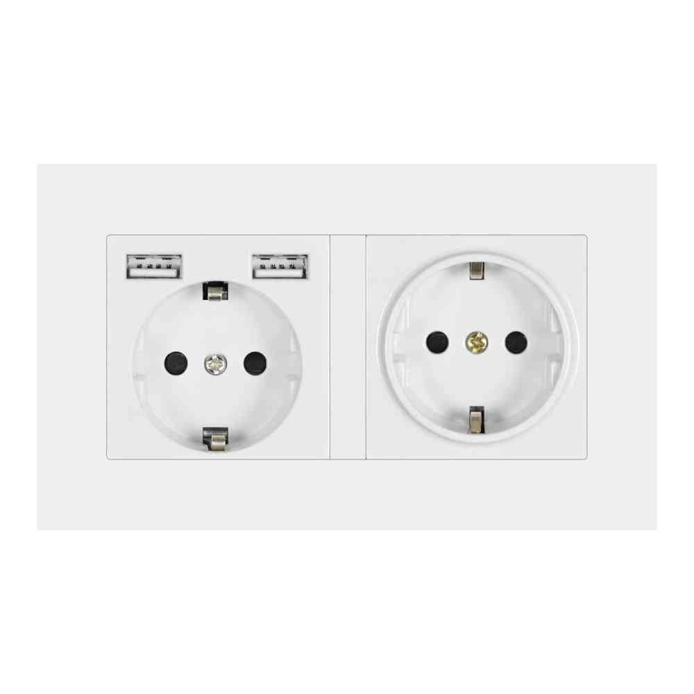16a Eu 2gang Power Socket With Led Indicator