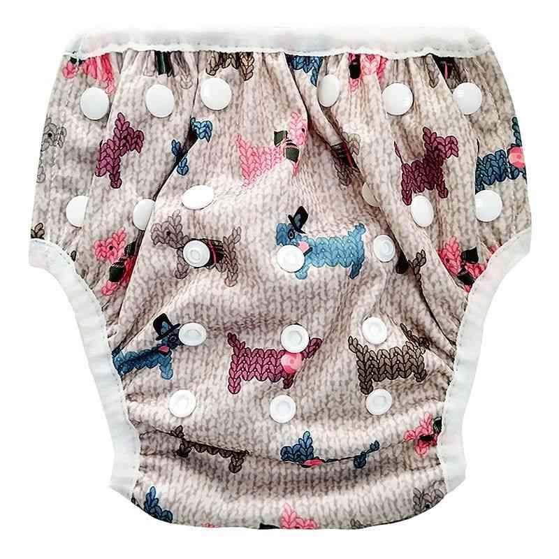 Cartoon Trunks Beach Bathing Diaper / Swimwear For Toddler