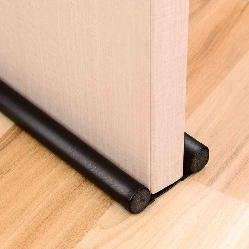 Foldable Under Door, Sound Proof Draft Stopper - Washable Leather, Door Seal Strip