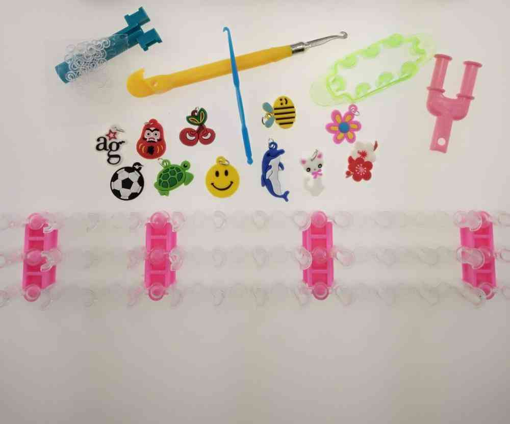 Rainbow Rubber Loom Bands Make Woven Bracelet Toy