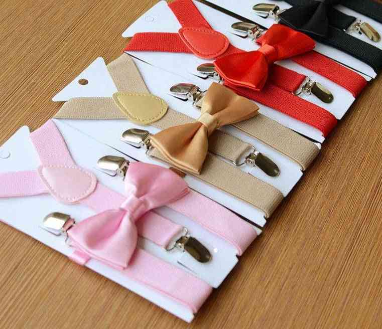 Kids Suspender And Bow Tie Matching Set