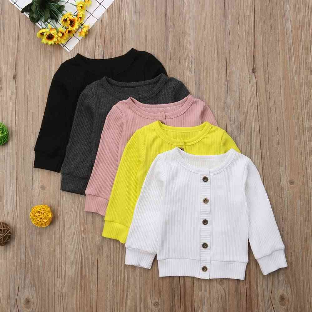 Winter Infant Sweater Clothes -kids Long Sleeves Knitted Button Tops