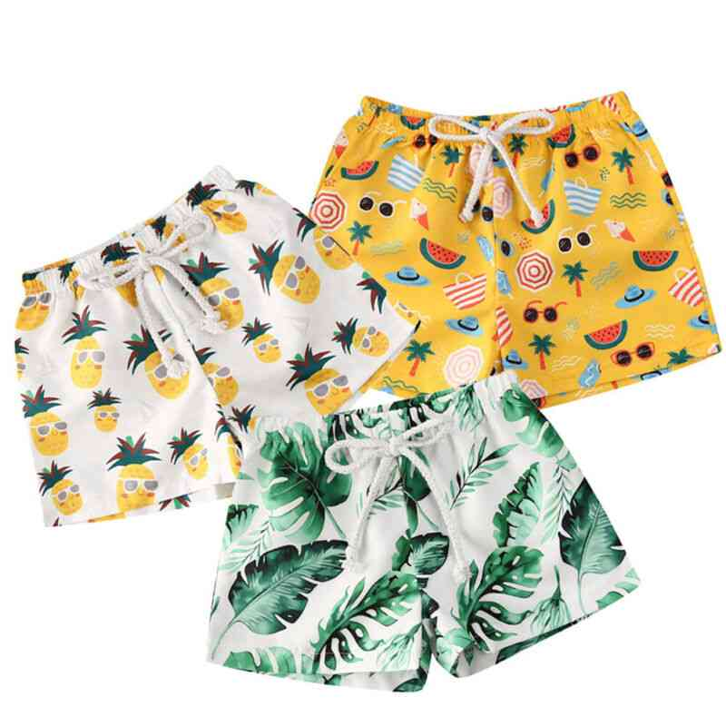 Printed Quick Dry - Swim Trunk Swimming Swimsuit For Kids