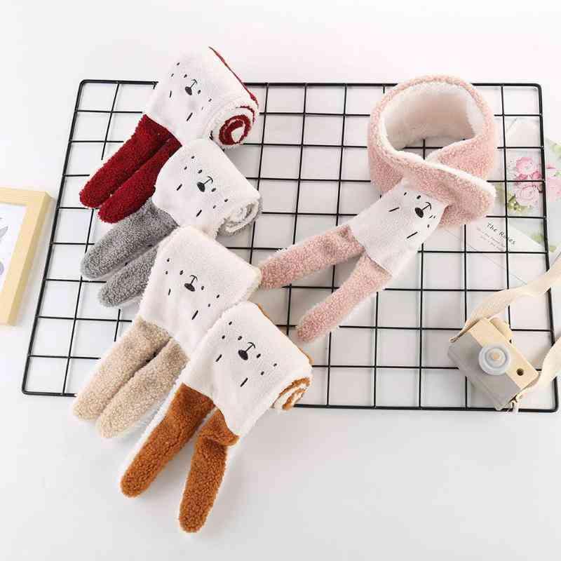 Winter Warm Scarf, Newbron Baby Shawl Imitation Lambskin Collar Wear Autumn Infant /