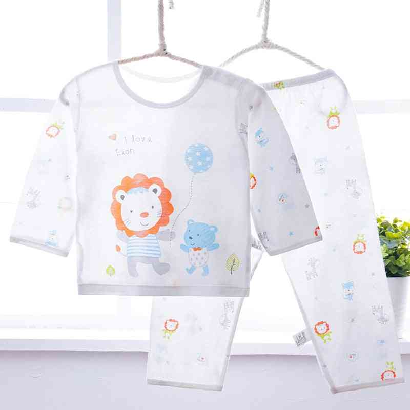 Pajama Infant Sets For Boy / Girl - Long Sleeve Soft Bamboo Fiber Thin Baby's Sleepwear