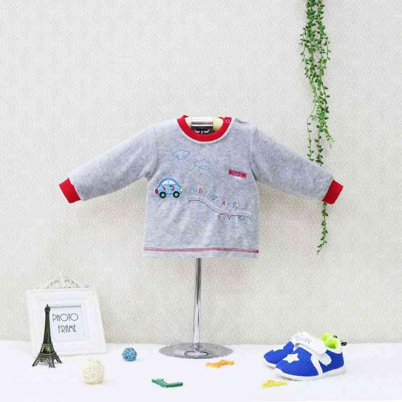 Little Style O Neck Blouse Long Sleeve Shirts - Velour Baby Clothes Kids Sleepwear