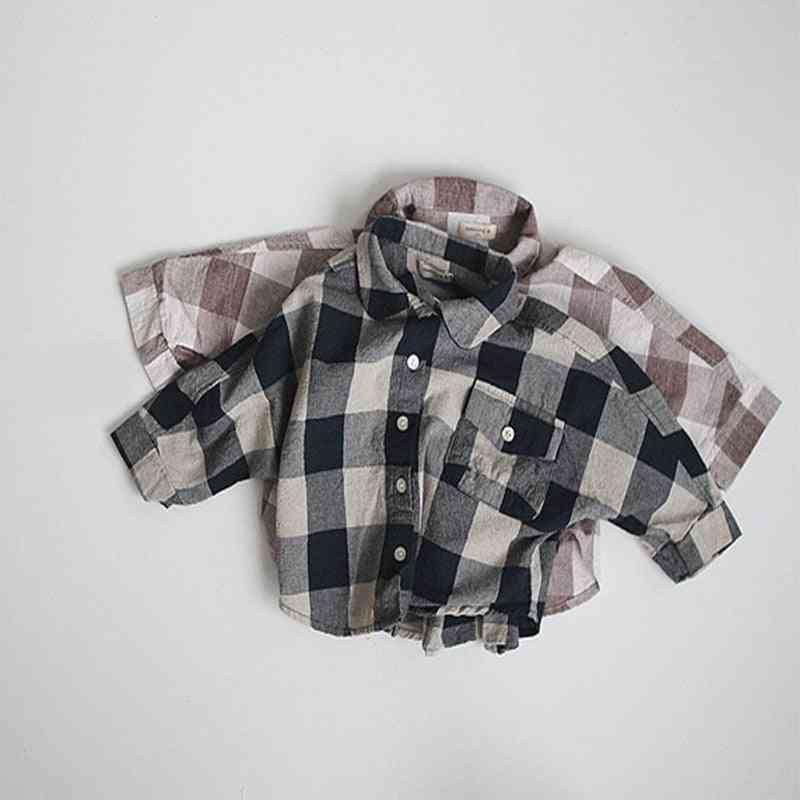 Long Sleeve, Plaid Patttern-regular Fit Casual Shirt