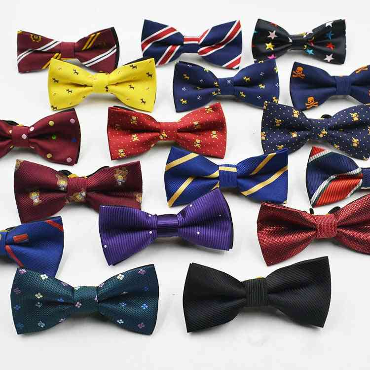Boys Gentleman Adjustable Suit Shirt Neck Dot Bow Tie For Party