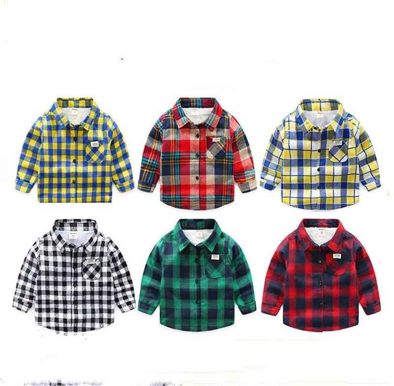 Winter Casual Kids Shirts Plush Velvet Thick