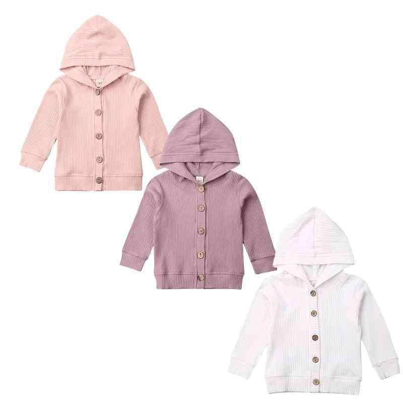Baby Boy Knitting Cardigan Autumn Warm Infant Sweaters - Long Sleeve Hooded Coat Jacket Kids Outfits