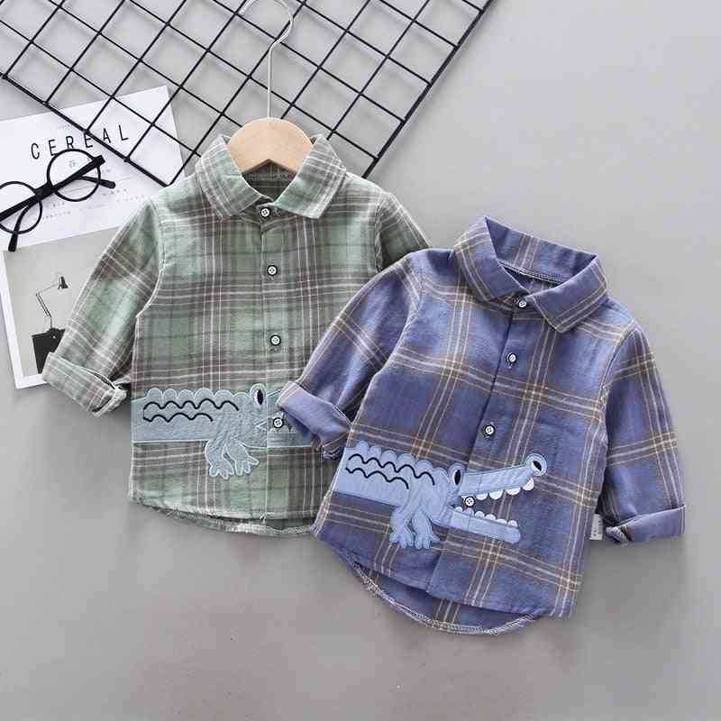 Spring Long Sleeve, Cotton Shirt For Babies