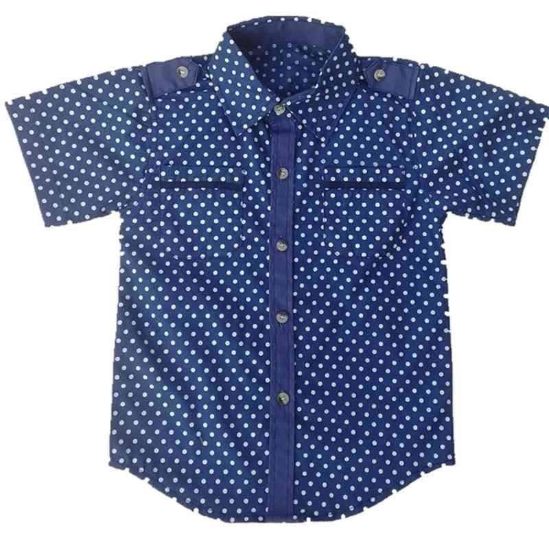Boy Menino Camisa Shirts - Short Sleeve Classic Casual Clothing