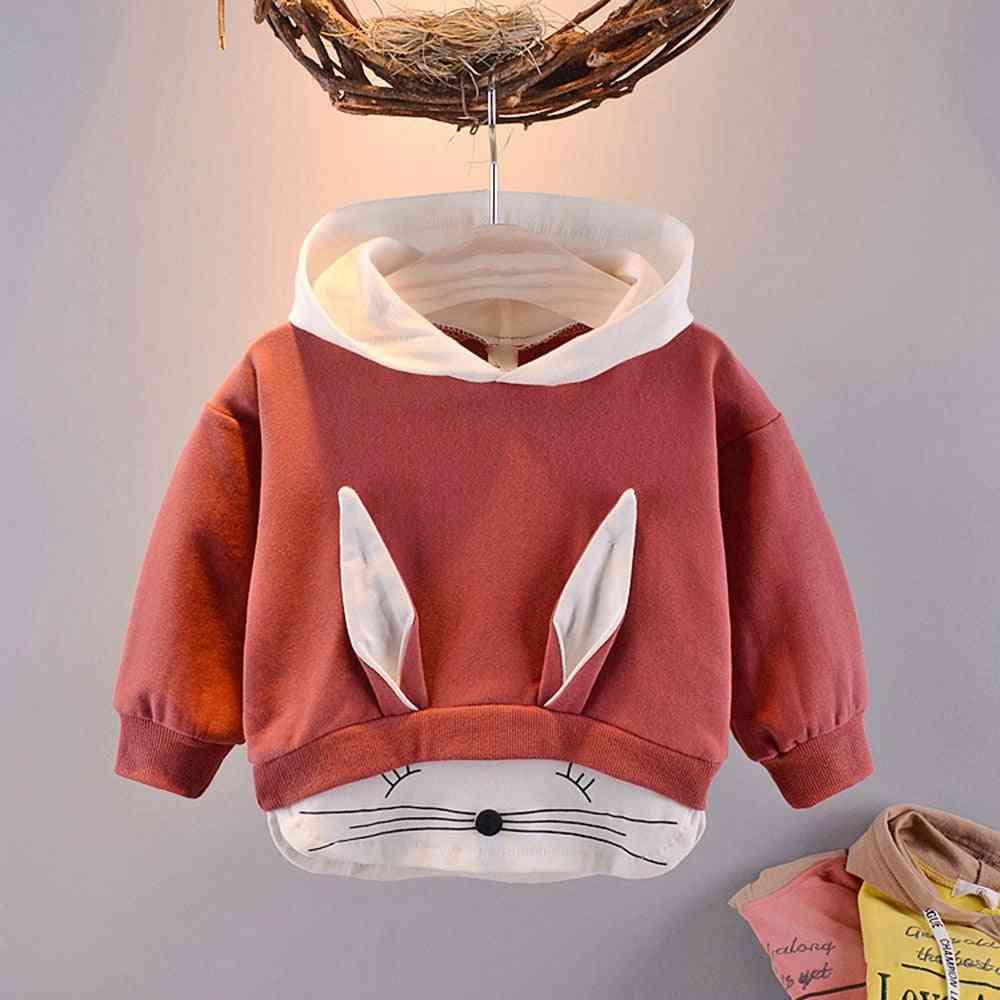 Kidslong Sleeve, Cartoon Rabbit Hooded Sweatshirts