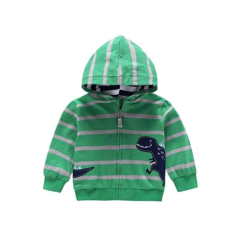 Boy / Animal Print Sweatshirt - Striped Hoodies Clothing Casual Sport Outerwear