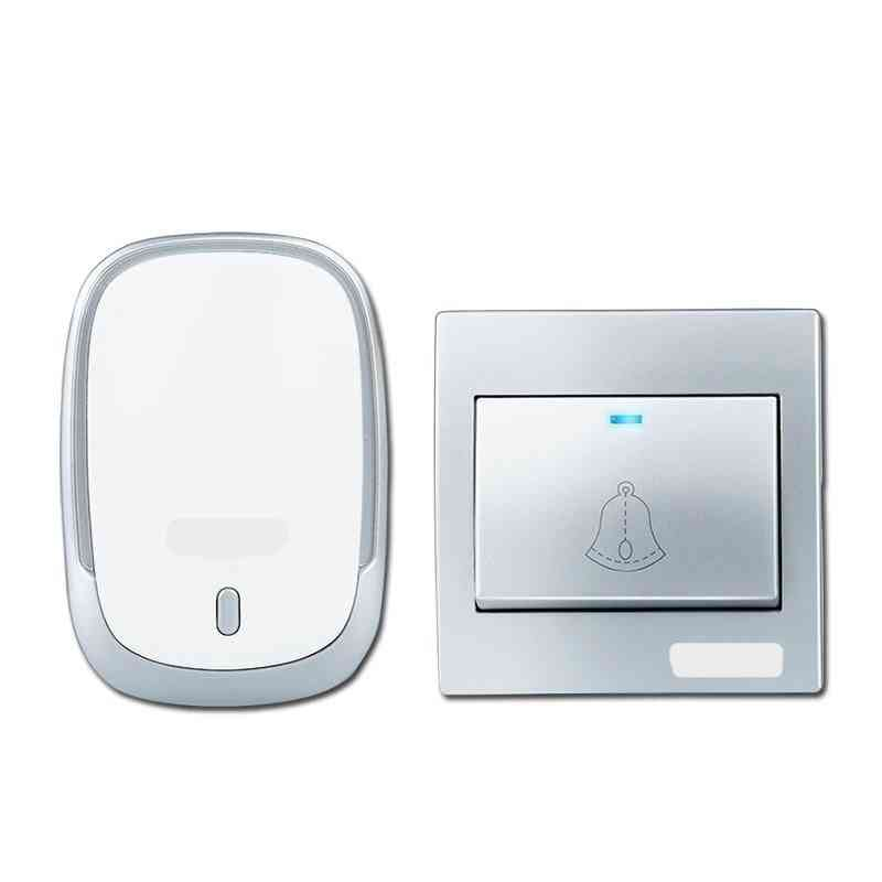 Wireless Doorbell Battery Button, 300m Remote Led Light Receiver