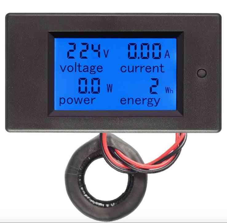 Digital Lcd Ac Voltmeter / Ammeter And  Current Transformer