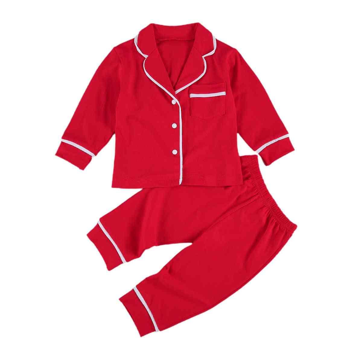 Solid Cotton Infant Pajamas Sleepwear Sets