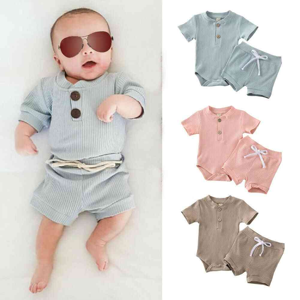 Baby Summer Clothing, Short Sleeve, Bodysuit Outfits For Kids