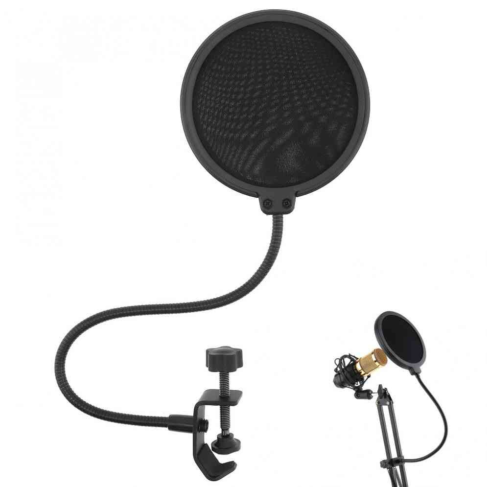 Double Layer Studio Microphone And Wind Screen Mask Mic Pop Filter Shield